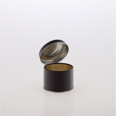 Alavinė dėžutė maisto produktams 73/55 juoda 200 ml
