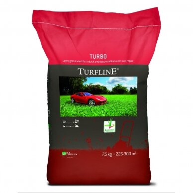Atnaujinimui ir atsėjimui vėjų sėklų mišinys Turfline Turbo 7,5 kg