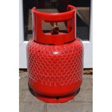 Dujų balionas 3 kg buitiniu ventiliu su rankena 2