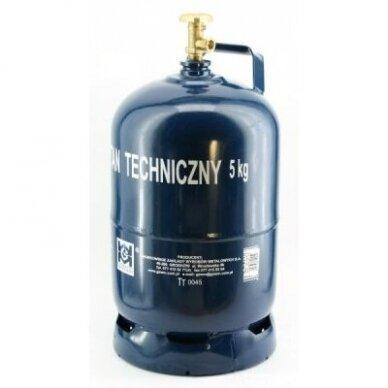 Dujų balionas 5kg buitiniu ventiliu