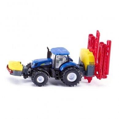 Modelis Traktorius New Holland su Kverneland pakabinamu purkštuvu