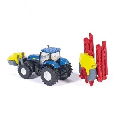 Modelis Traktorius New Holland su Kverneland pakabinamu purkštuvu 4