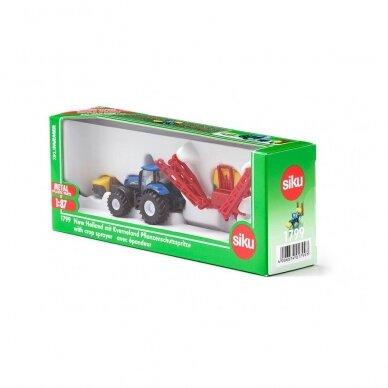 Modelis Traktorius New Holland su Kverneland pakabinamu purkštuvu 6
