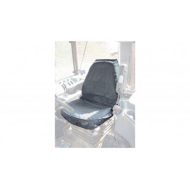 Universalus traktorių sėdynių apdangalas modelis Large Pilkas 3