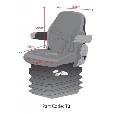 Universalus traktorių sėdynių apdangalas modelis Large Pilkas 2