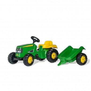 Traktoriukas su priekaba John Deere