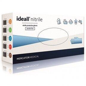 Vienkartinės latekso pirštinės Ideall Nitrile be pudros XL
